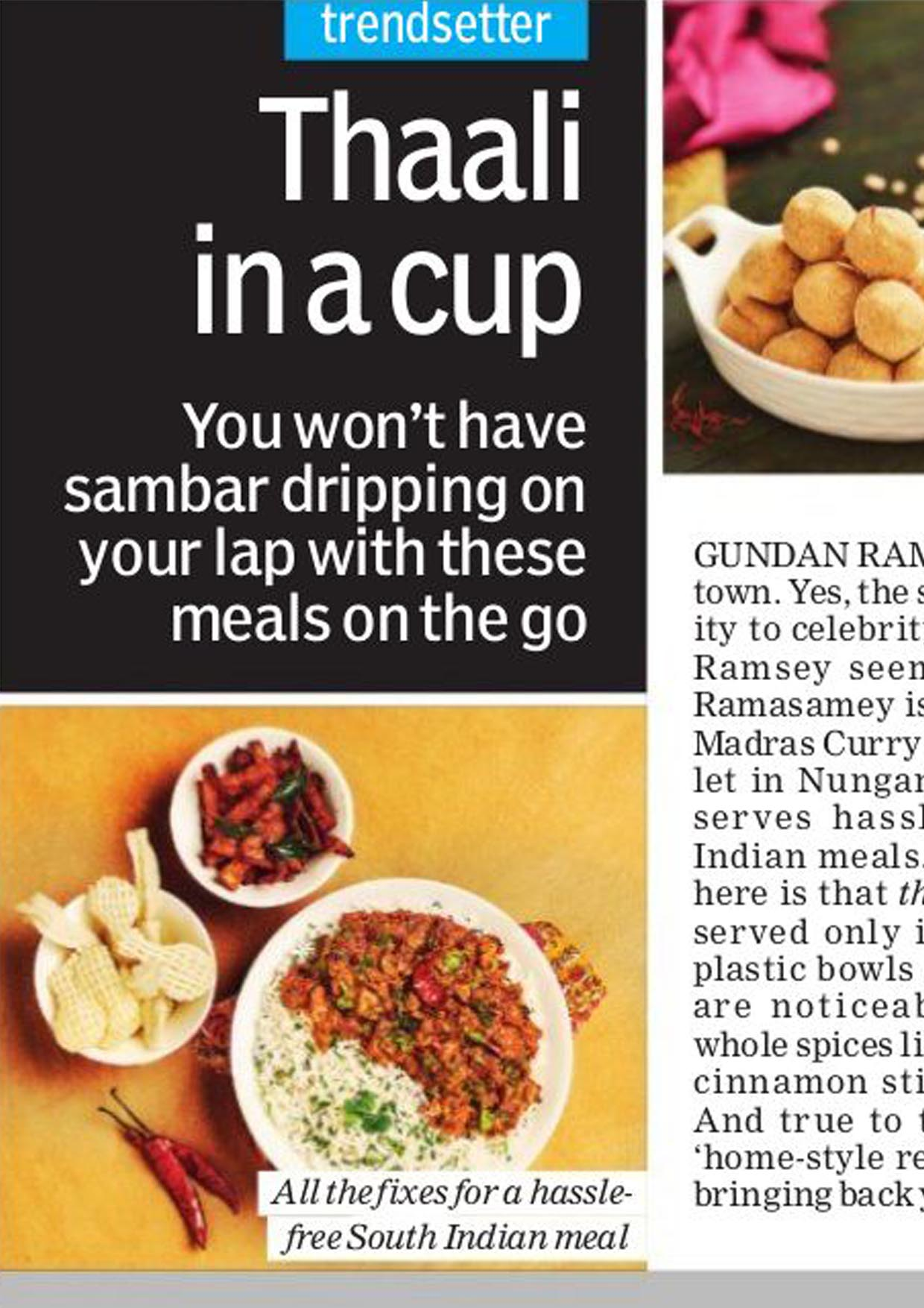Madras curry cup-New Indian Exress
