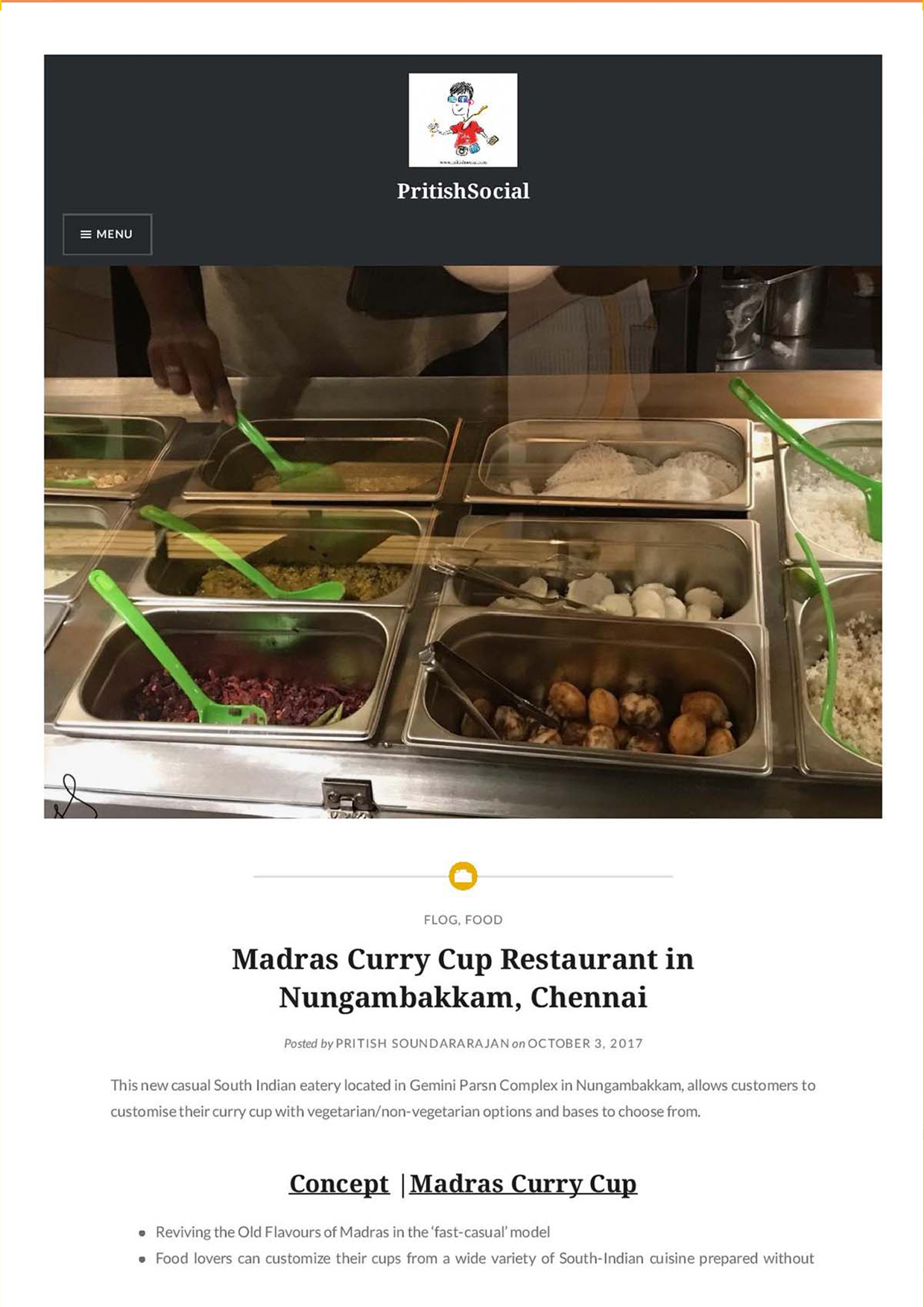 Madras curry cup-Blog